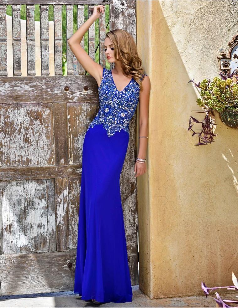 Nina Canacci - 8042 Dress in Royal