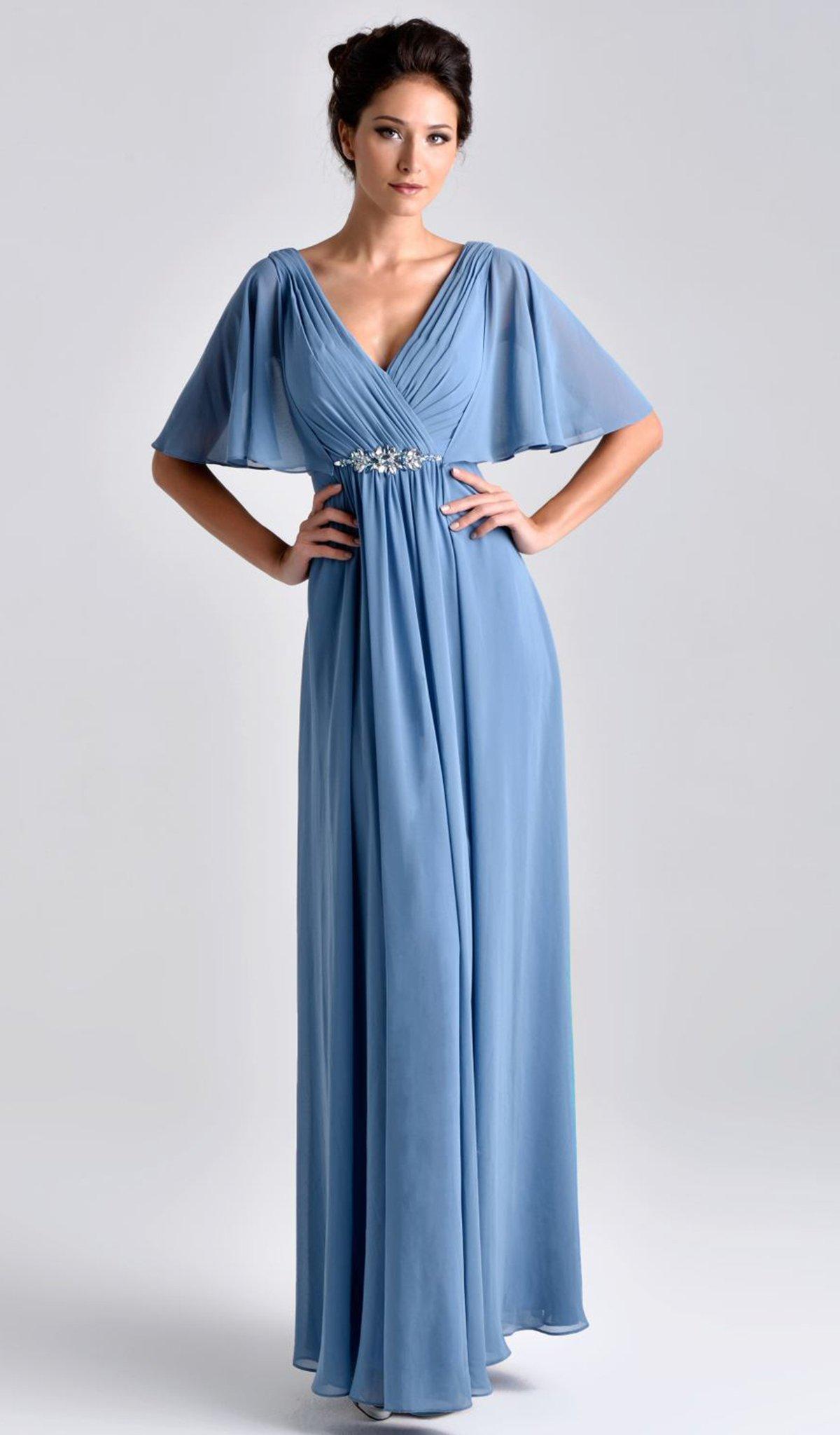 Nina Canacci - M239 Dress in Steel Blue