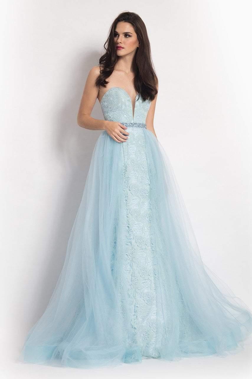 Rachel Allan - 6004 Strapless Tulle Overlay Mermaid Gown