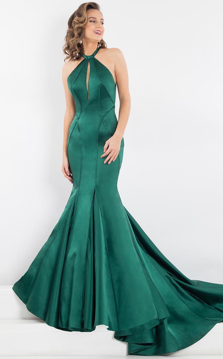 Rachel Allan Prima Donna - 5949 Halter Neck Structured Evening Gown