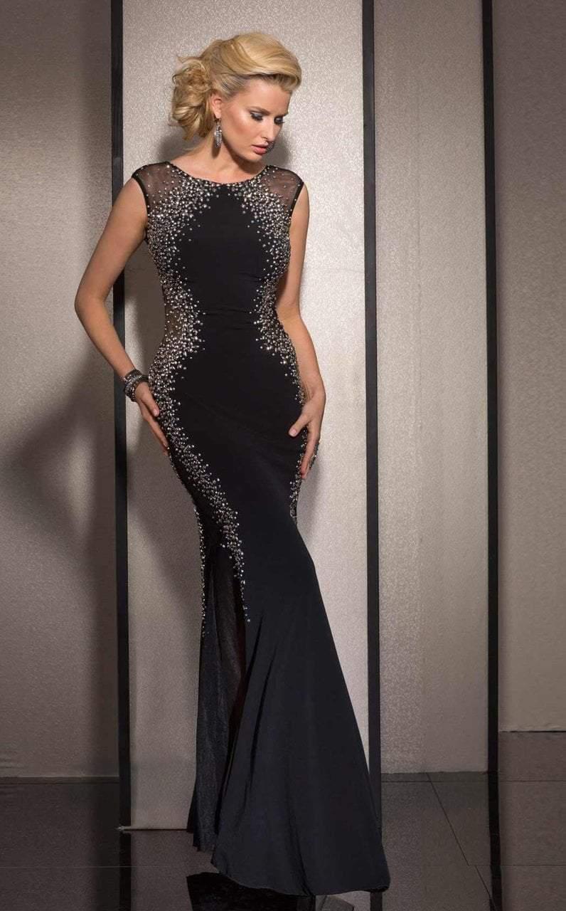 Clarisse - 2627 Bedazzled Jewel Sheath Dress