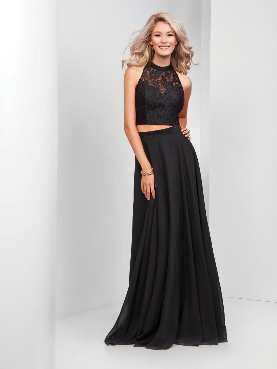Clarisse - 3427 Two-Piece Lace Illusion A-Line Gown