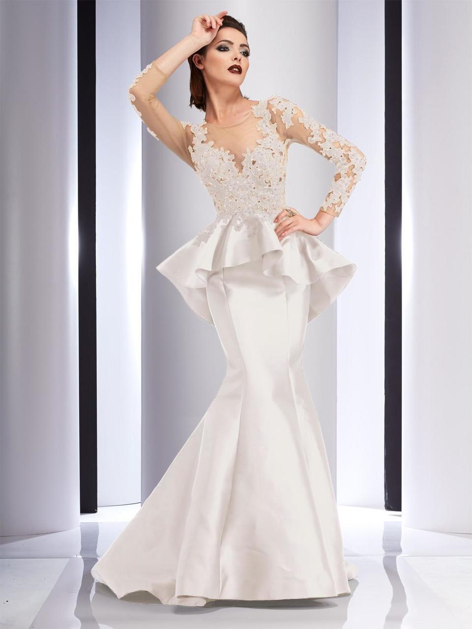 Clarisse - 4701 Floral Applique Mermaid Dress