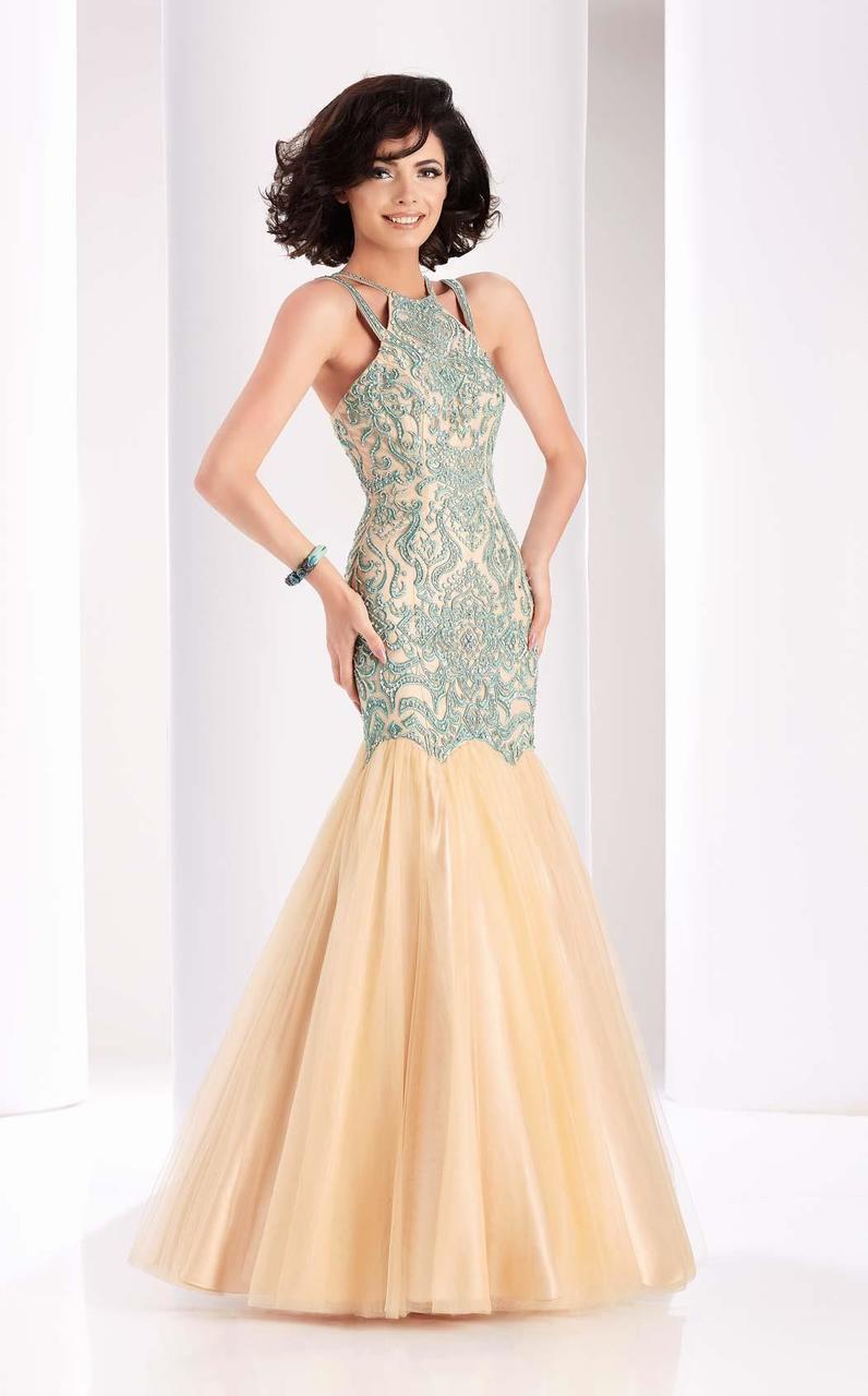 Clarisse - 4856 Beaded Ruffled Mermaid Gown