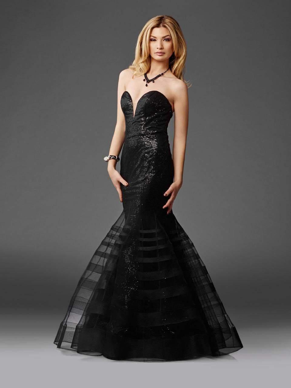 Clarisse - 4950 Strapless Sequined Mermaid Dress