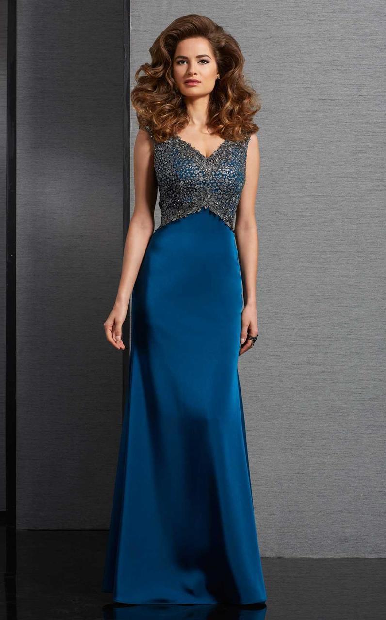 Clarisse - 6317 Embellished V-neck Dress