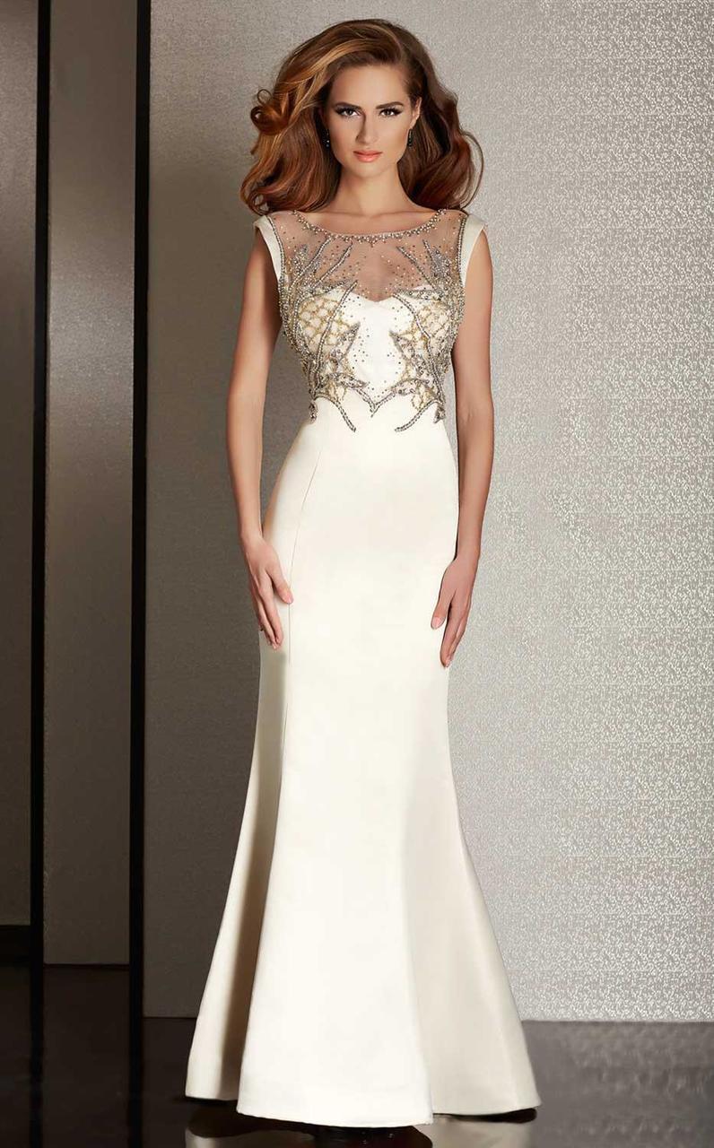 Clarisse - M6231 Beaded Illusion Bateau Dress