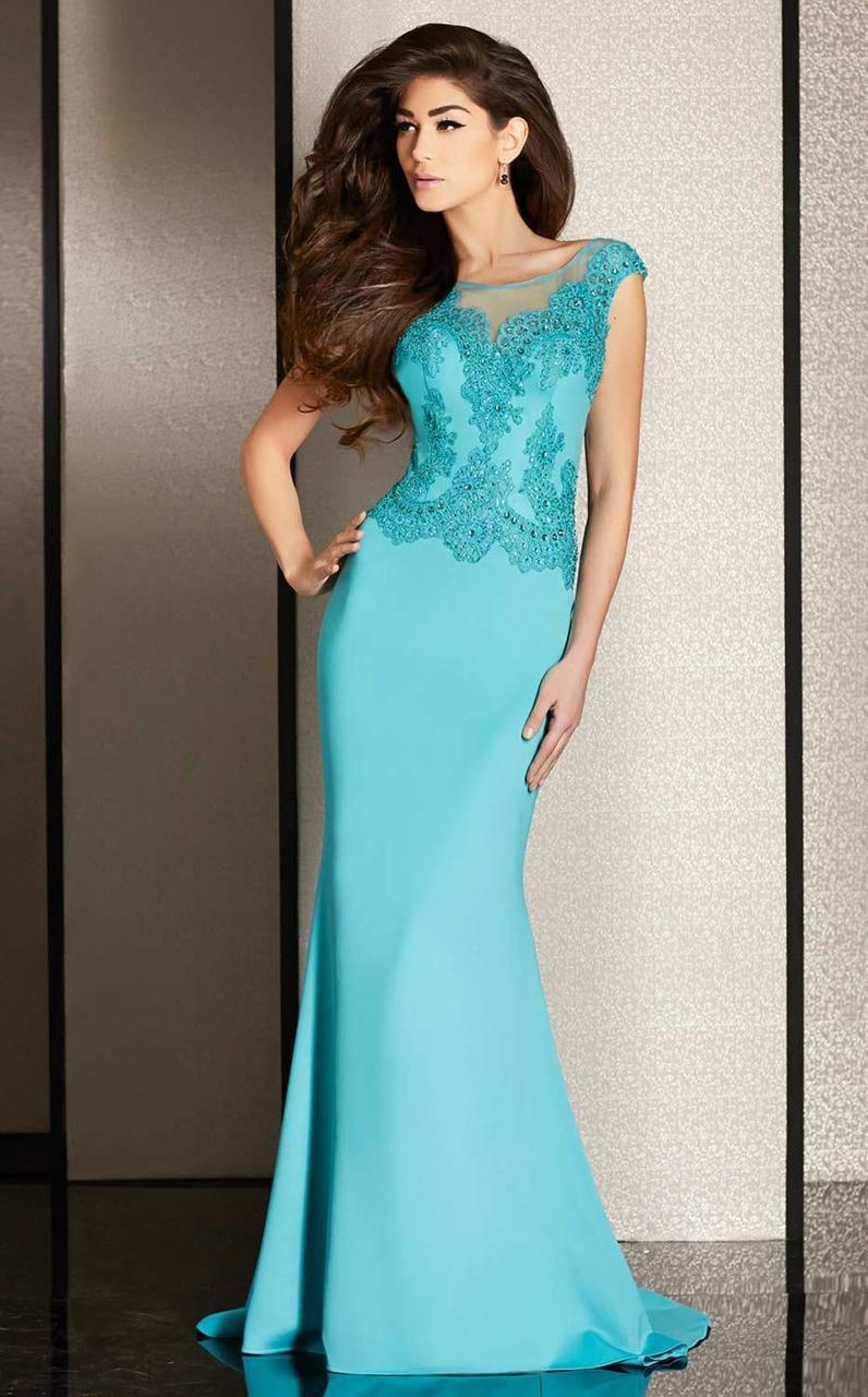 Clarisse - M6234 Applique Embellished Evening Gown