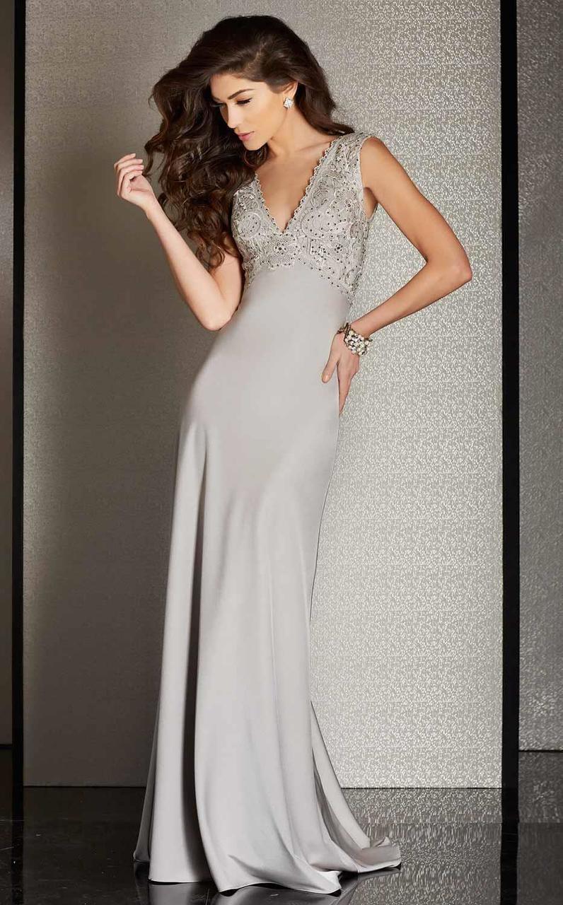 Clarisse - M6248 Crystal Lace Sheath Dress