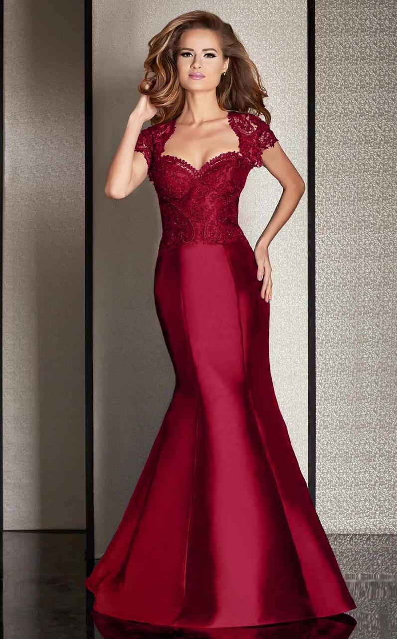 Clarisse - M6256 Lace Queen Anne Mermaid Dress