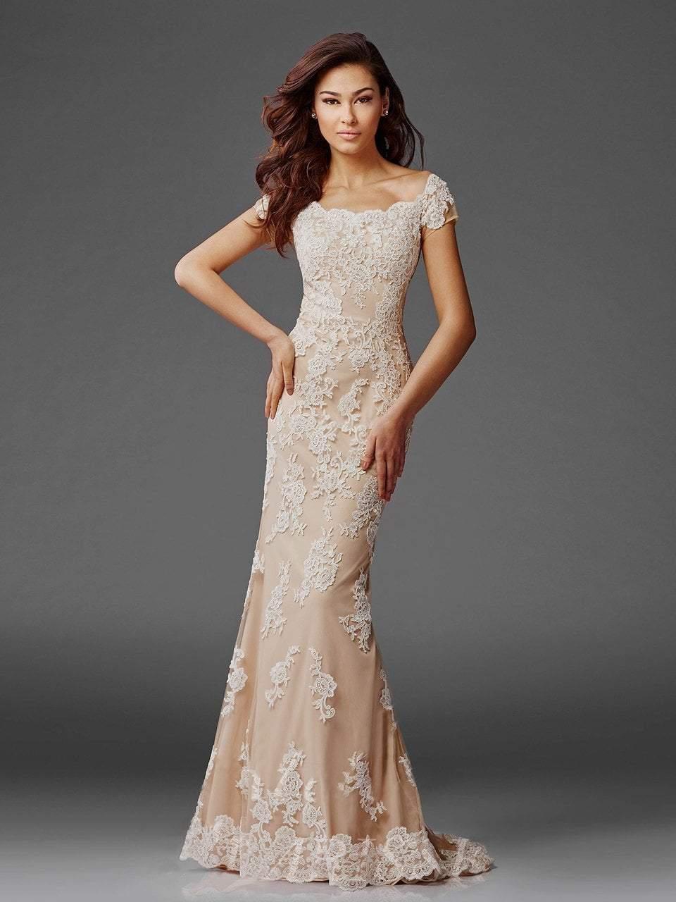 Clarisse - M6417 Romantic Lace Bateau Evening Gown