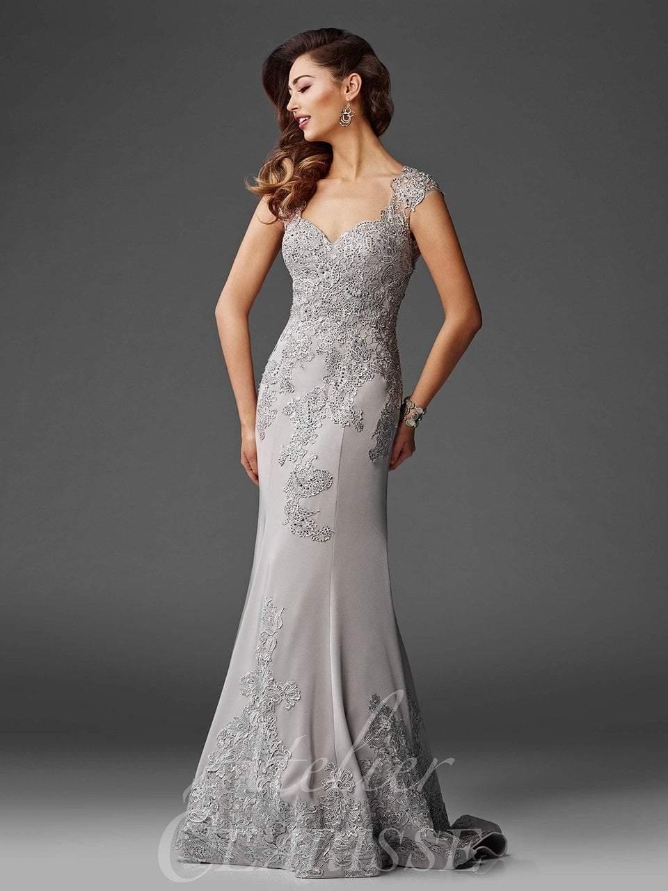 Clarisse - M6421 Sweetheart Lace Applique Evening Gown