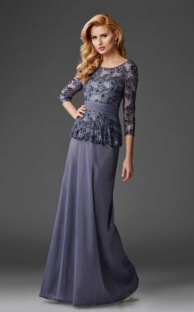 Clarisse - M6432 Quarter Length Sleeve Lace Gown