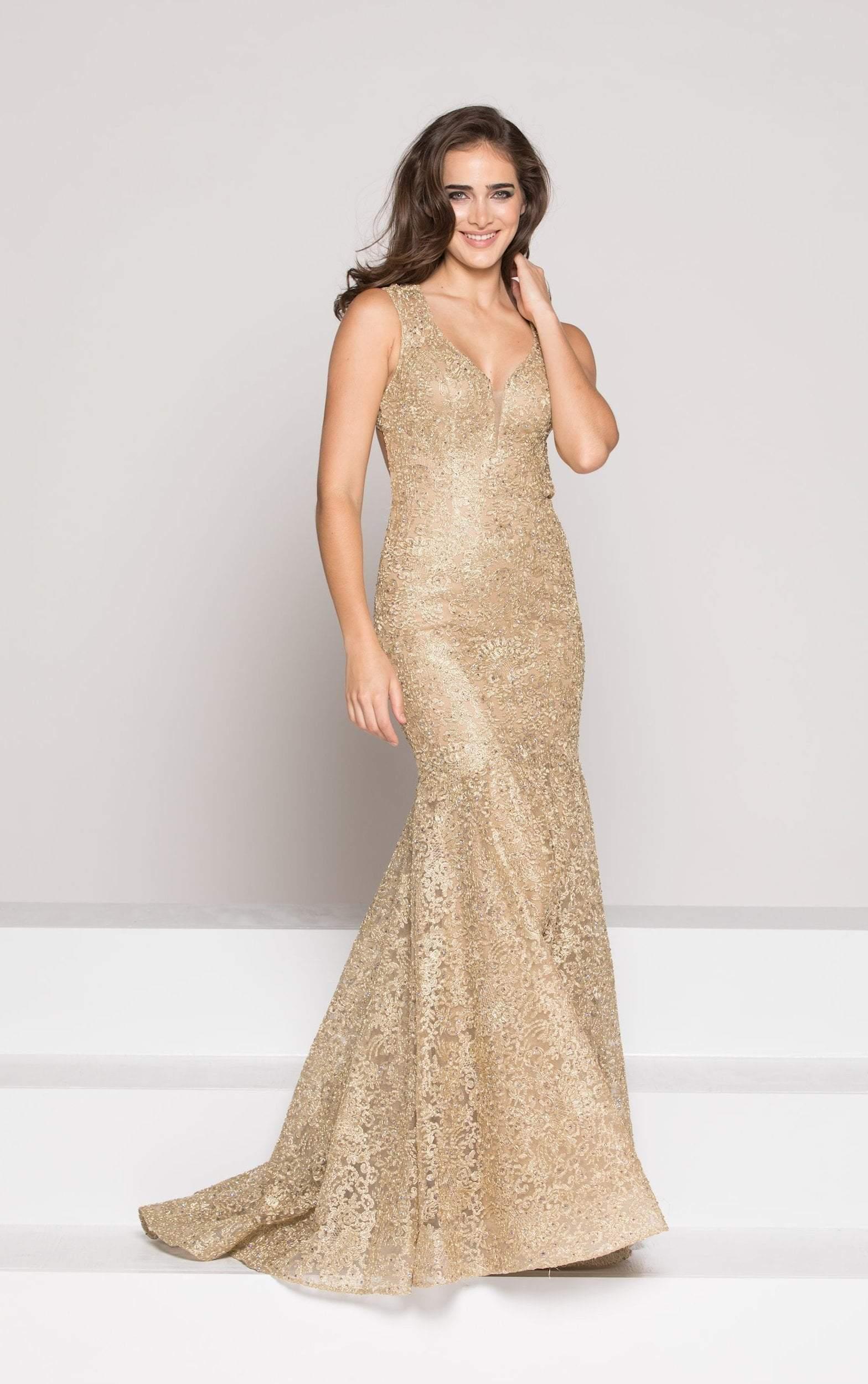 Colors Dress - 1915 Lace V-neck Sheath Dress