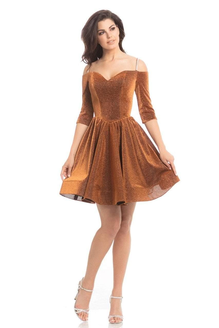 Johnathan Kayne - 8207 Off-Shoulder Sweetheart Neckline Cocktail Dress