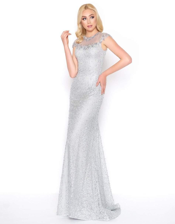 Mac Duggal - 50504D Jewel Illusion Neckline Sheath Evening Gown