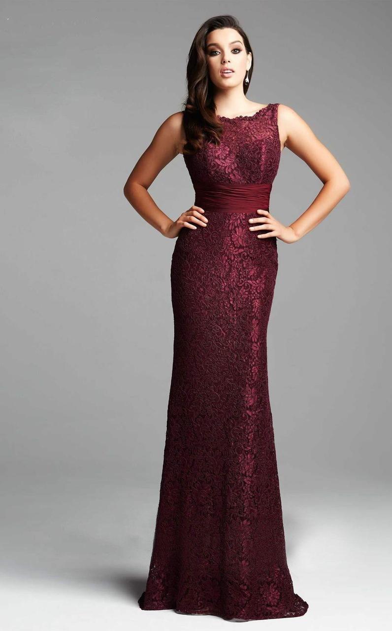 Mac Duggal - 62426 Sleeveless Lace Sash Evening Gown