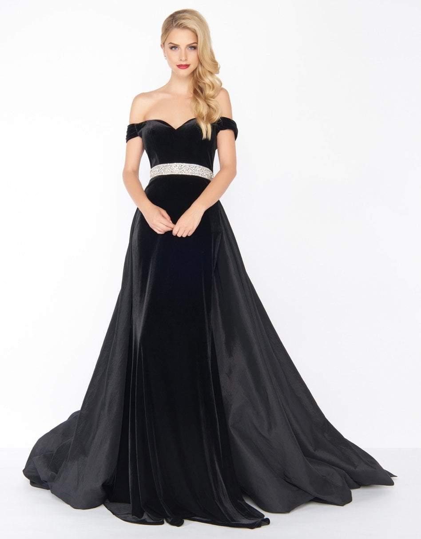 Mac Duggal - 62767 Off-Shoulder Dress With Overskirt