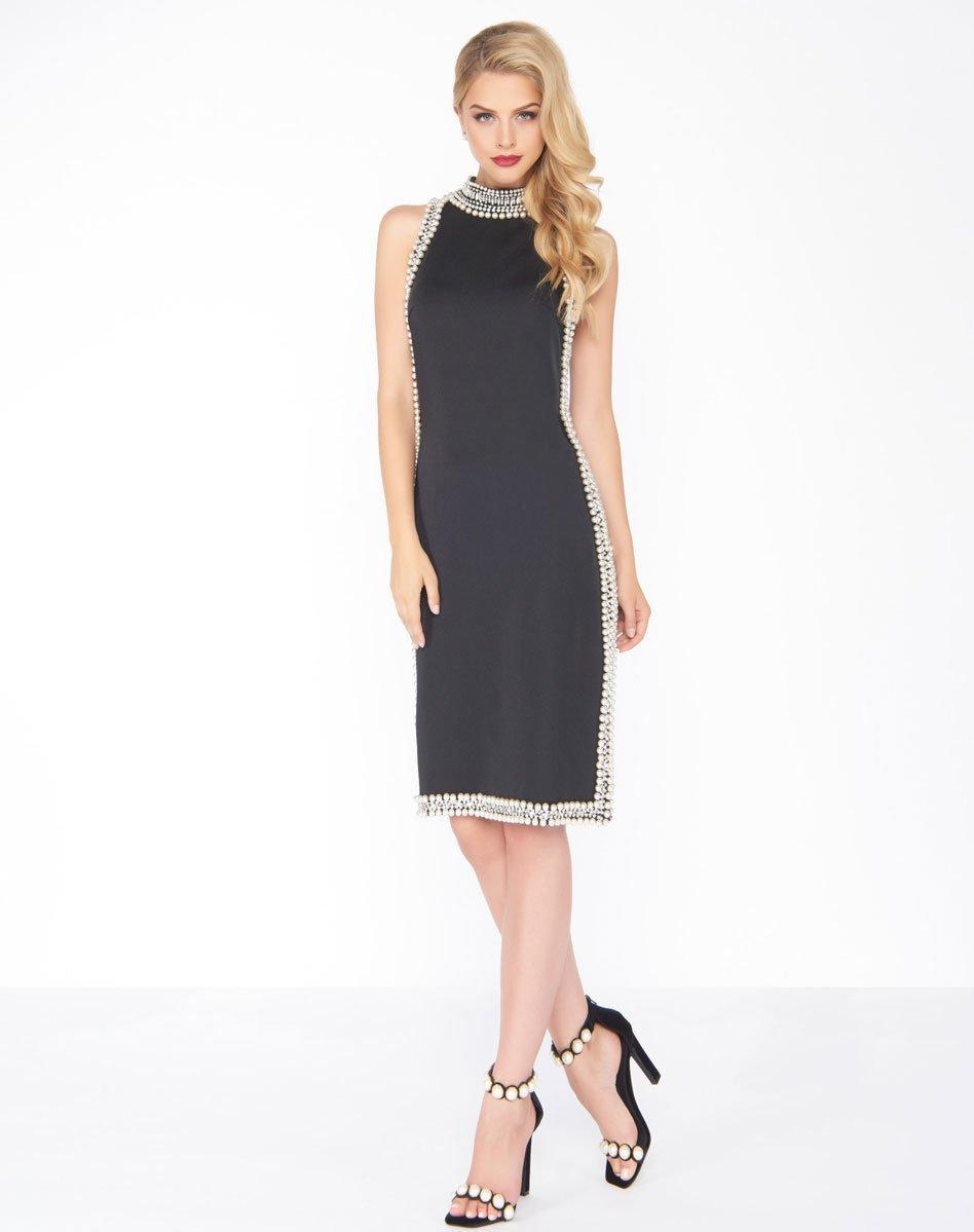 Mac Duggal - 62921R Beaded High Sheath Dress