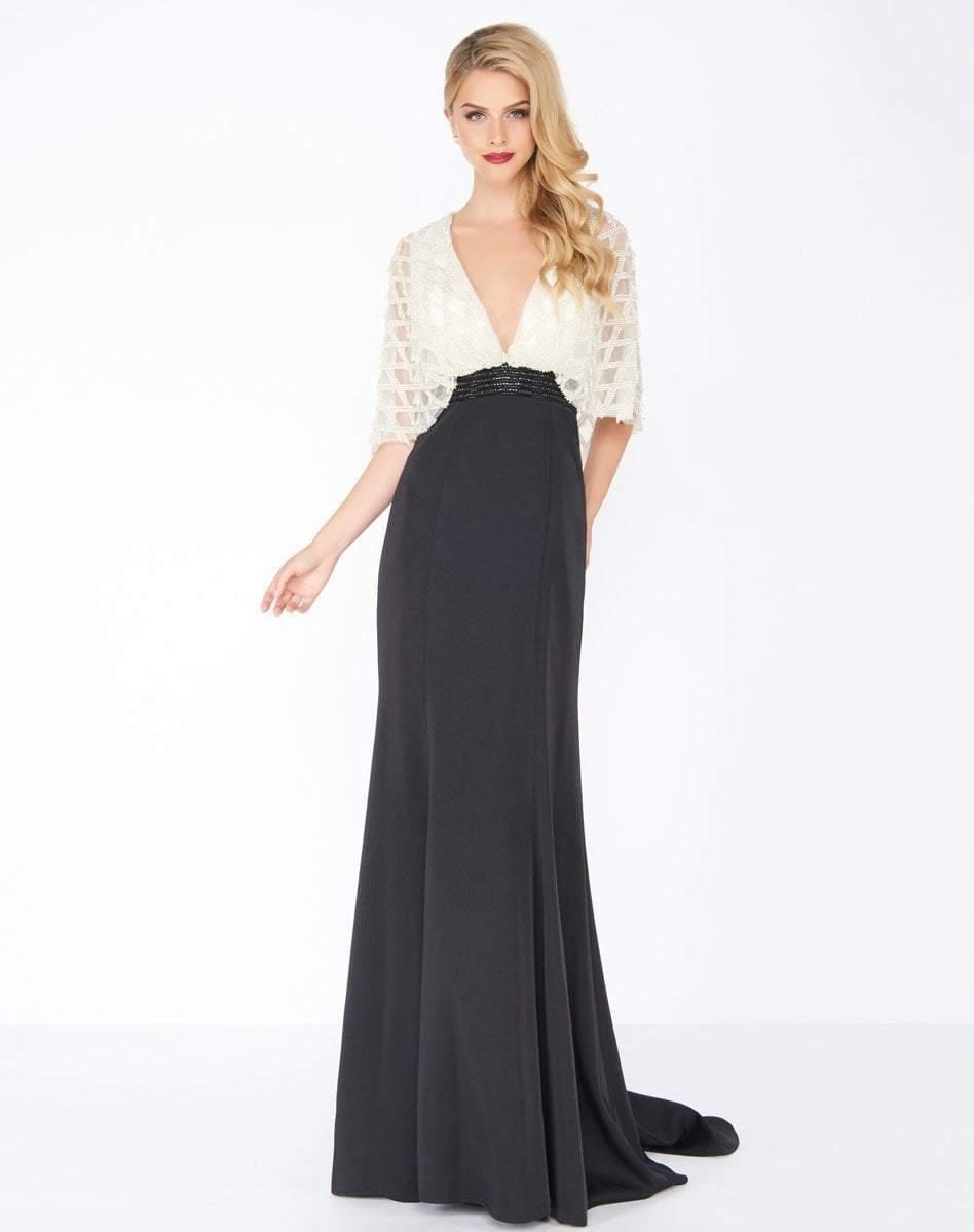 Mac Duggal - 62925R Embellished Deep V-neck Sheath Dress