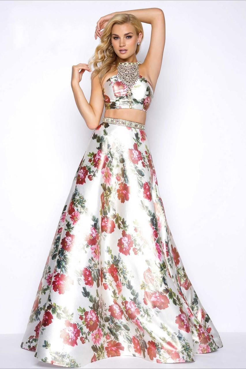 Mac Duggal - 66036M Two Piece Prom Dress with Jeweled Neckline