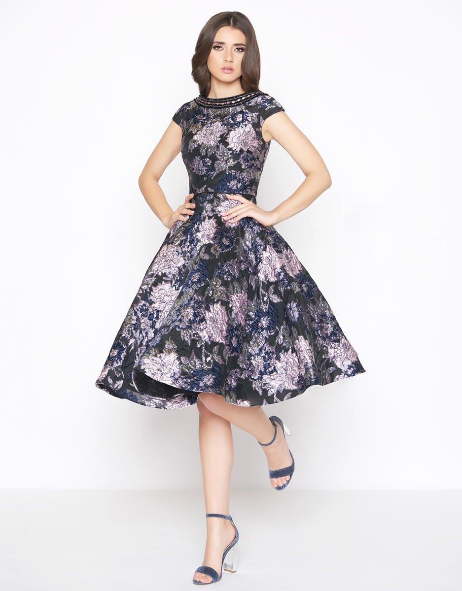 Mac Duggal - 66750D Floral Detailed Bateau A-line Dress