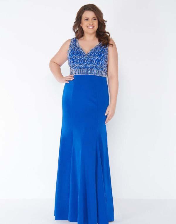 Mac Duggal - 77388F Sleeveless Embellished V-neck Sheath Dress