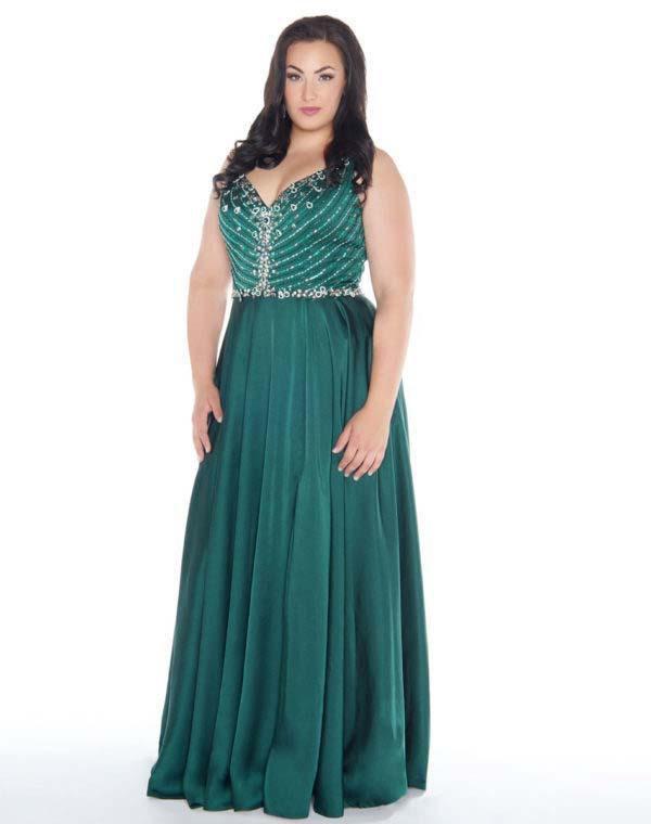 Mac Duggal - 77391F Sleeveless Embellished V-neck A-line Dress