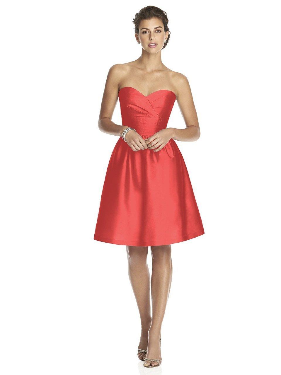 Alfred Sung - D542 Bridesmaid Dress in Firecracker