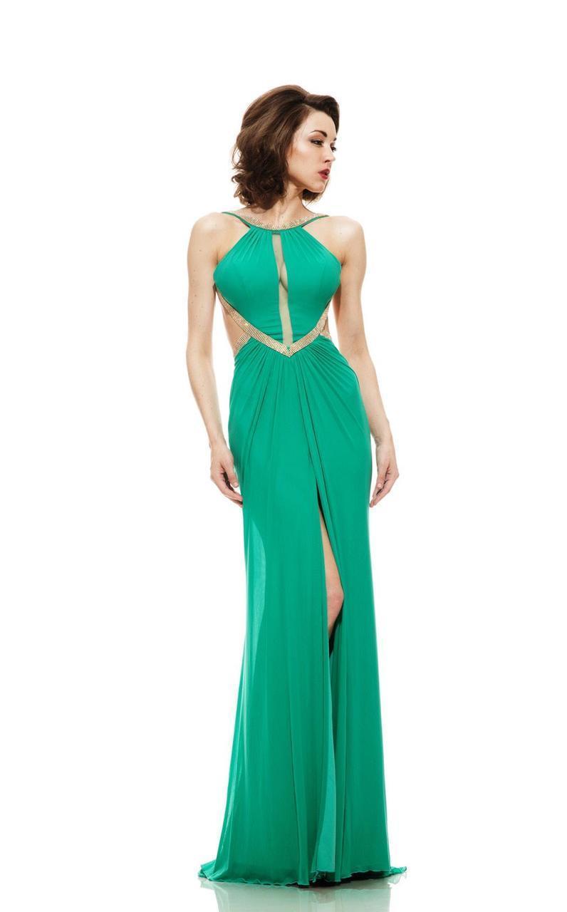 Johnathan Kayne - 6008 Embellished Halter Sheath Dress