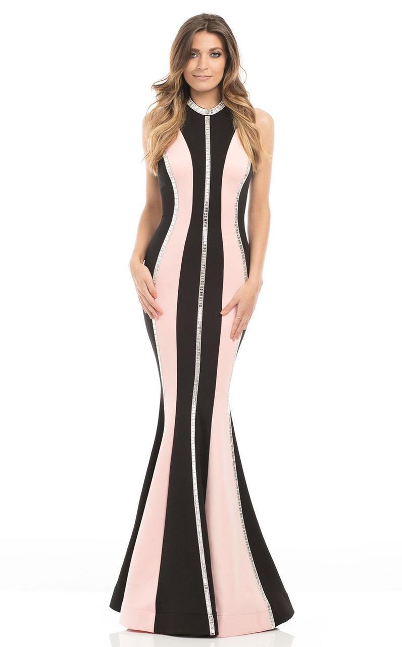 Johnathan Kayne - 7099 Embellished Halter Mermaid Dress