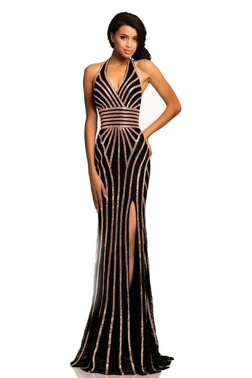 Johnathan Kayne - 8016 Embellished Halter Sheath Dress