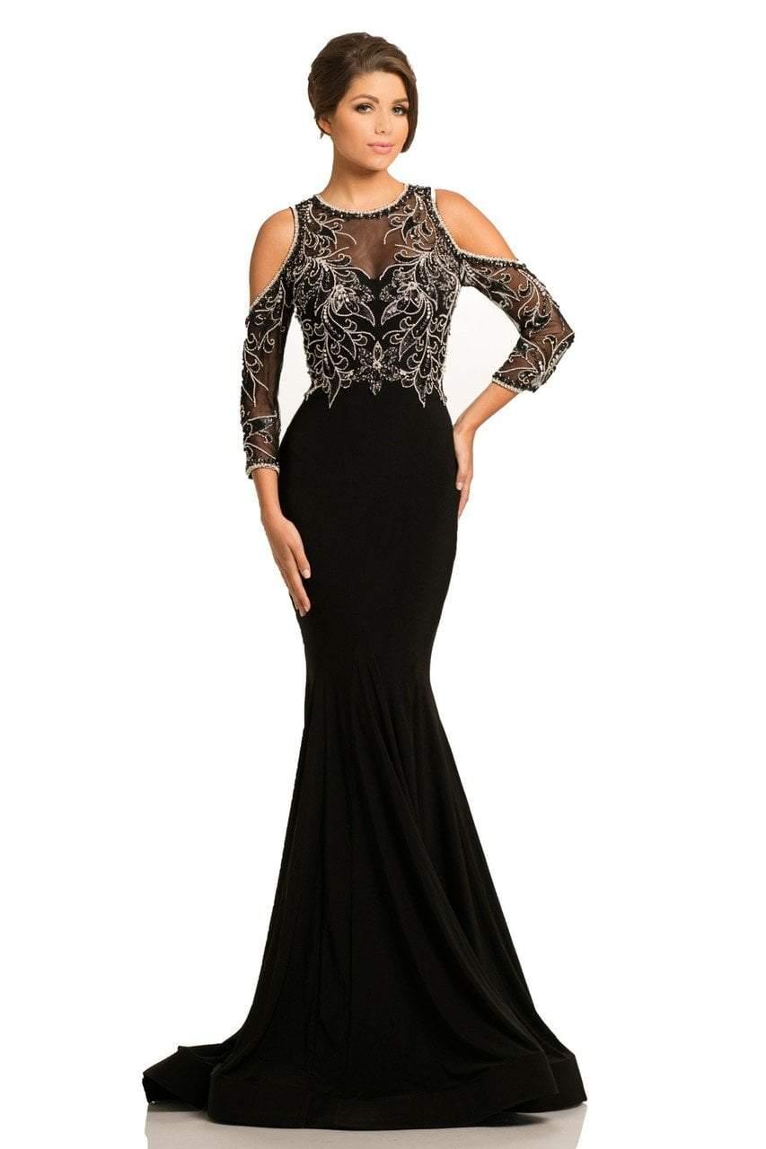 Johnathan Kayne - 8102 Beaded Jewel Mermaid Dress