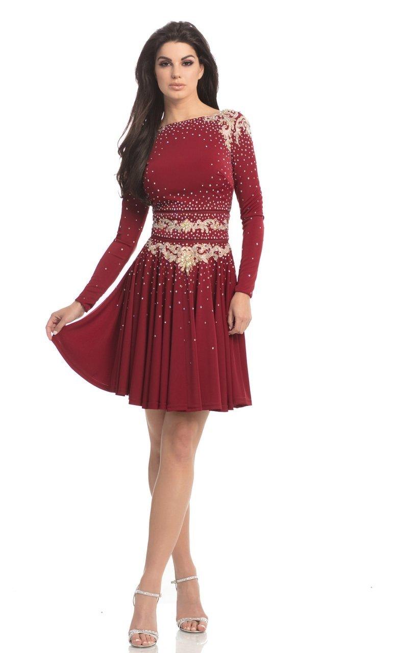 Johnathan Kayne - 8240 Convertible 2 Piece Long Sleeves Cocktail Dress