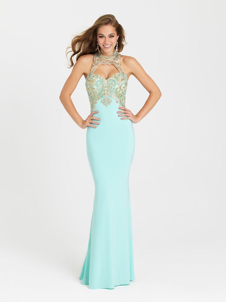 Madison James - 16-396 Dress in Aqua