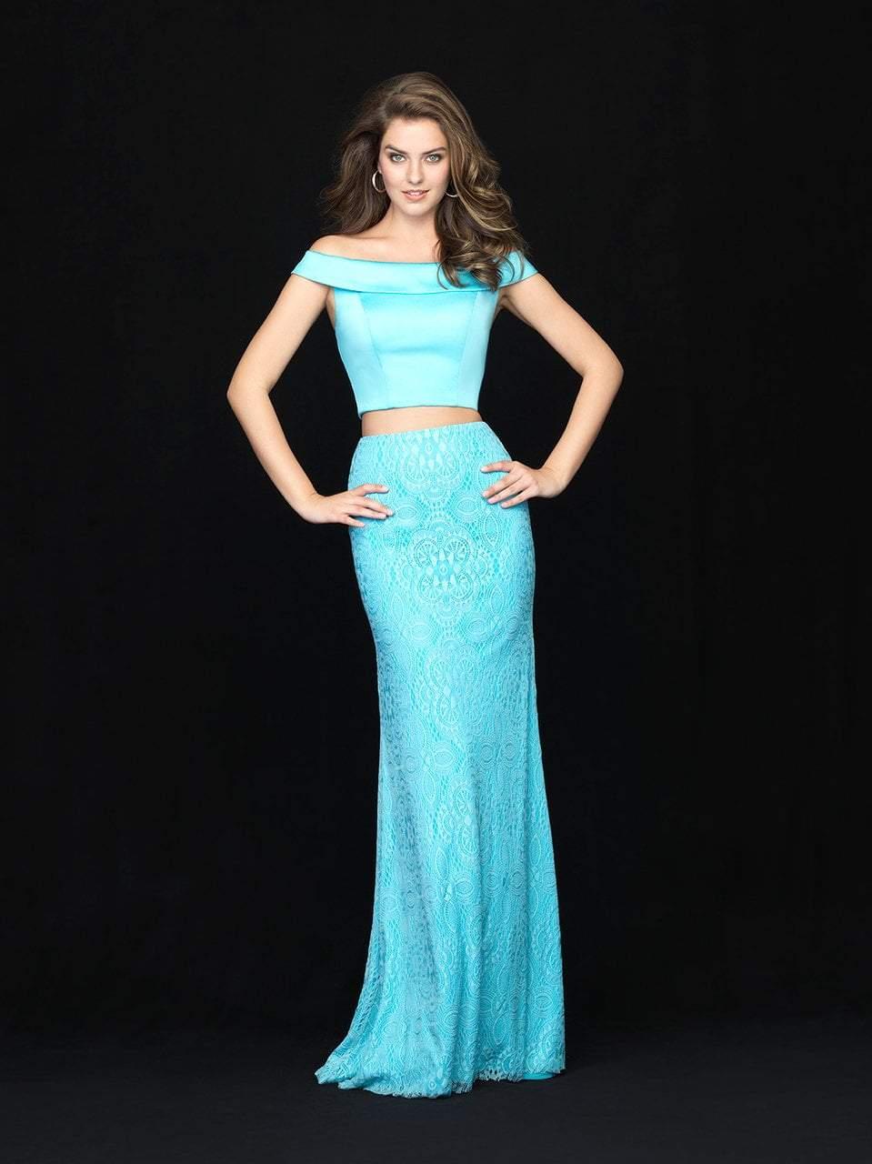 Madison James - 18-669 Two Piece Off Shoulder Lace Dress