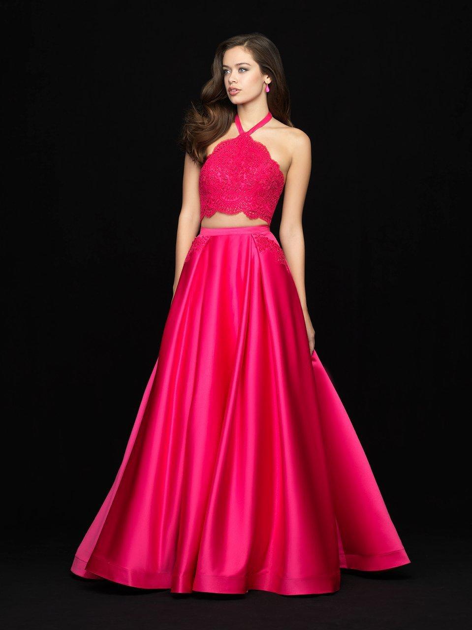 Madison James - 18-672 Two Piece Halter A-line Dress