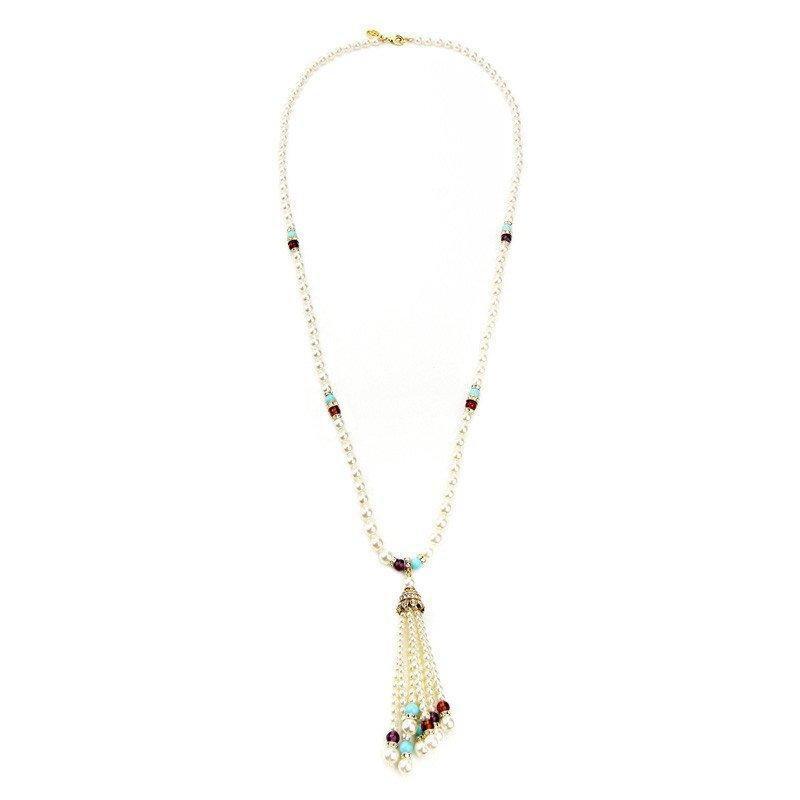 Ben-Amun - Byzantine Pearl Tassel Necklace