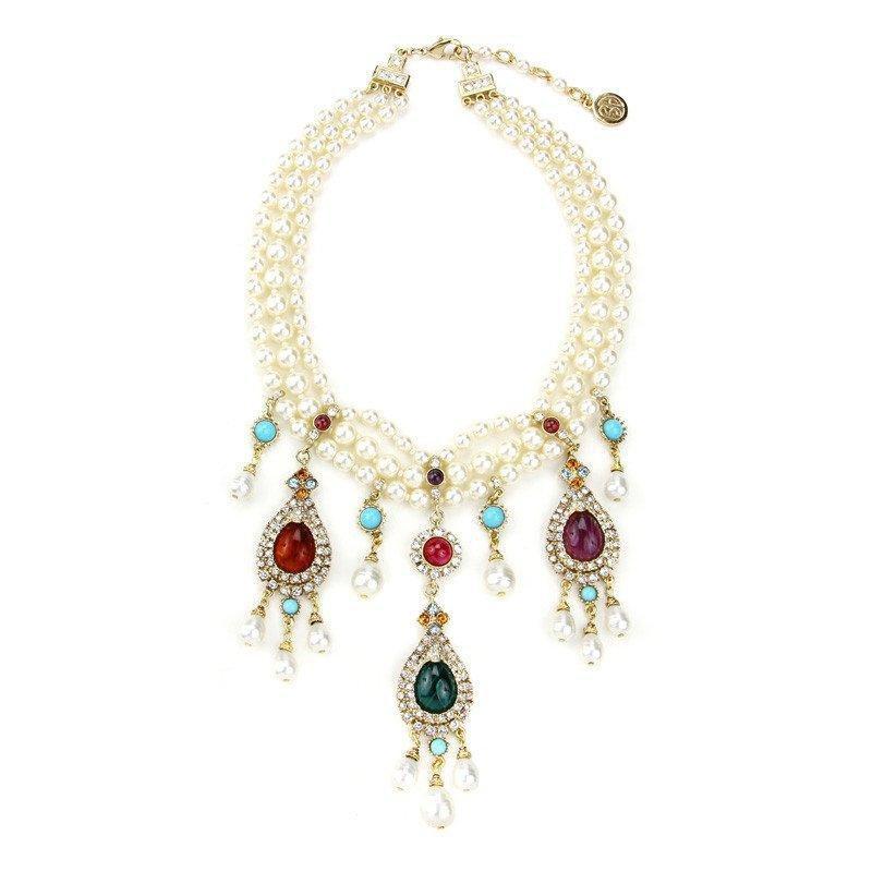 Ben-Amun - Byzantine Pearl Teardrop Pearl Necklace