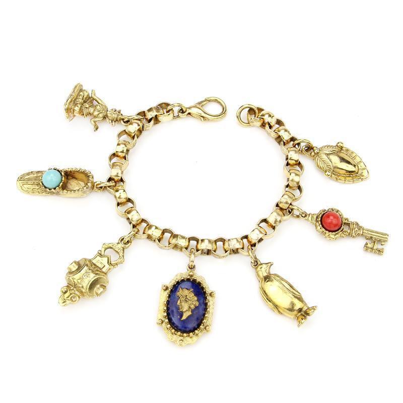 Ben-Amun - Royal Charm Prince Gold Bracelet