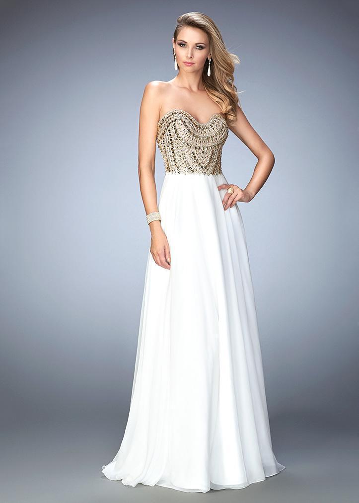 La Femme Gigi - 22722 Beaded Strapless Chiffon Gown